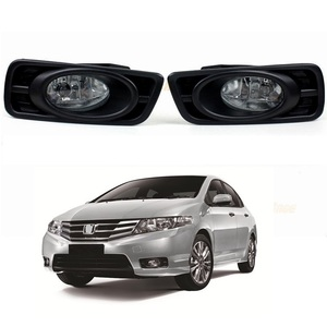 OEM Front Bumper Fog Driving Lights for Honda City 2012 - 2014 with switch wire harness and bezel