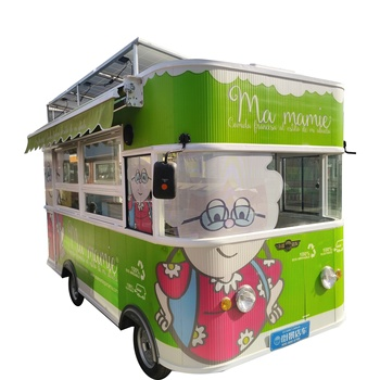 High Quality Ice Cream Catering Food Cart Truck for Snack Sales