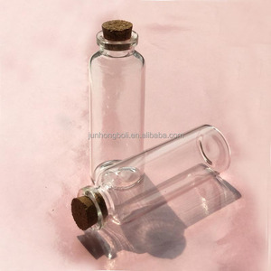 wholesale glass vials with cork 30ml tubular clear glass corked bottle,glass wishing bottle /gift wishing sand bottle