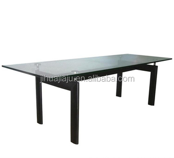 Le Corbusier LC6 Glass Dining Table/ Office Meeting Table/ Glass Table