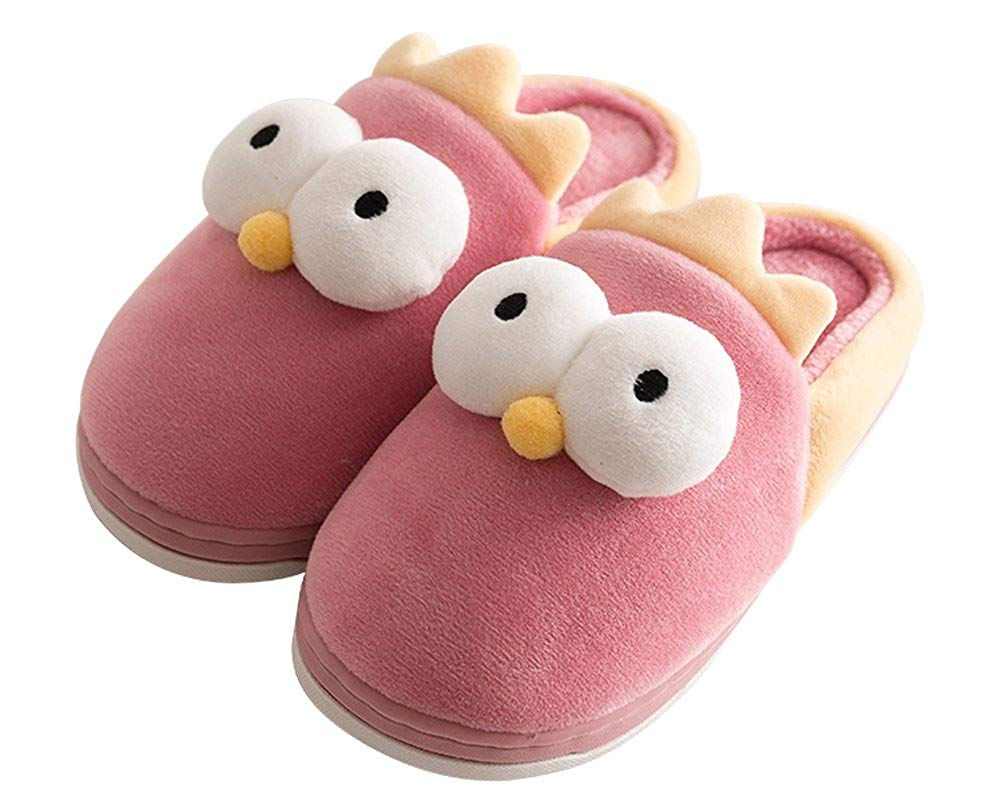 9431b089ca5 HiEase Boys Girls Cute Animal Fleece Slipper Nonslip Room Warm Slippers