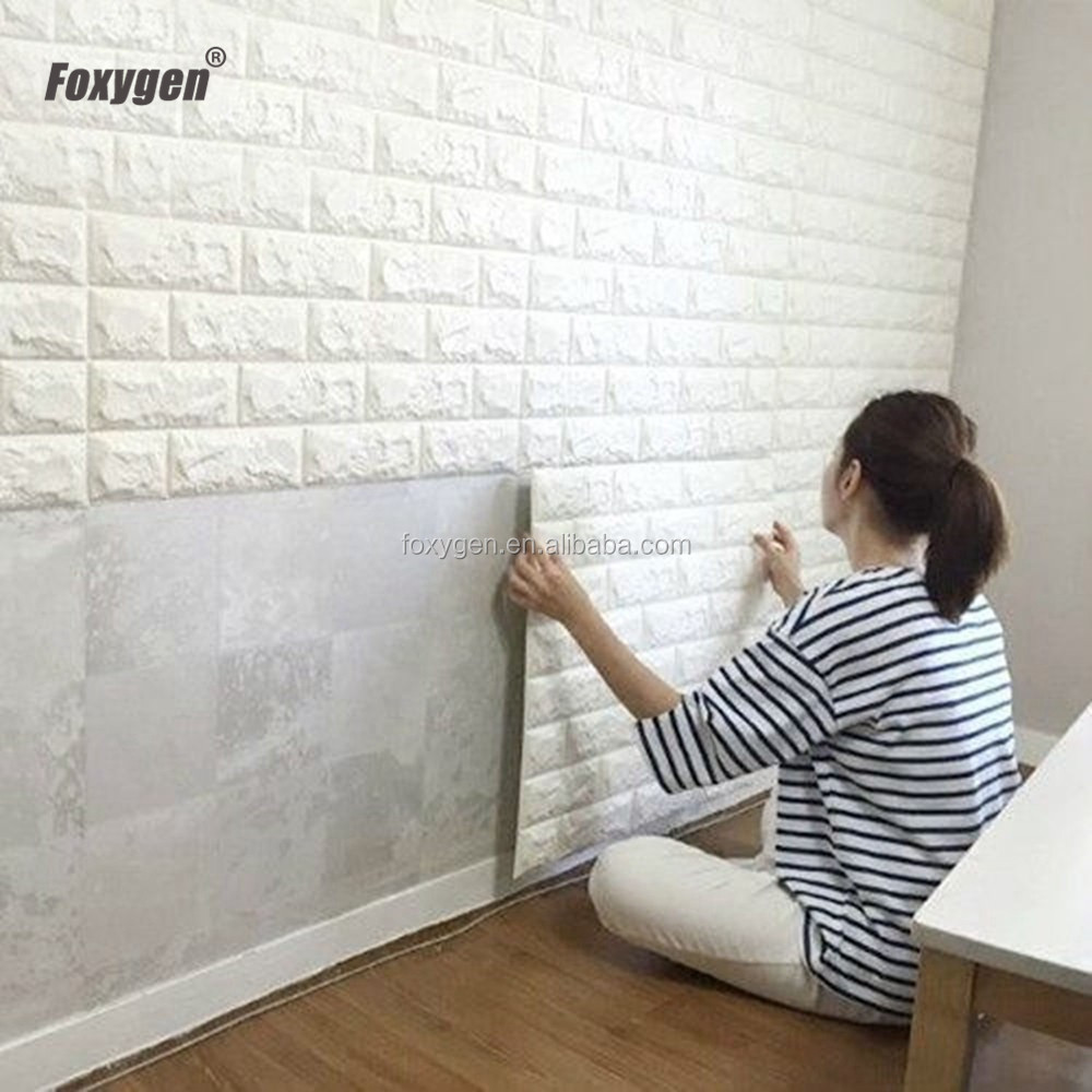 Multi color option DIY easy to install stretchy embossed brick stone 3d wallpaper for TV <strong>Walls</strong> / Sofa Background <strong>Wall</strong> Decor