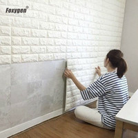 Multi color option DIY easy to install stretchy embossed brick stone 3d wallpaper for TV Walls / Sofa Background Wall Decor