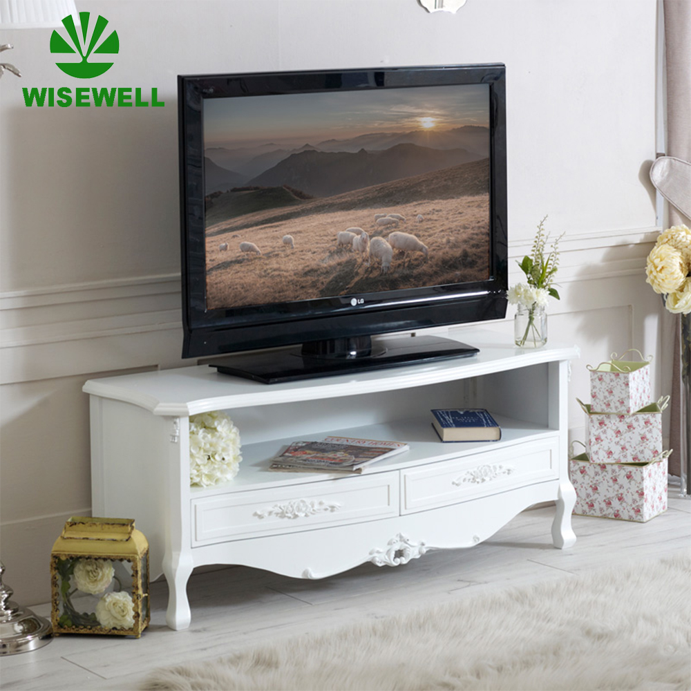 wood living room furniture two drawer television cabinet with rose