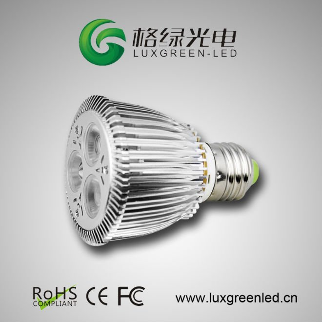 color rendering index (Ra):> 85 E27 4*1W spotlights