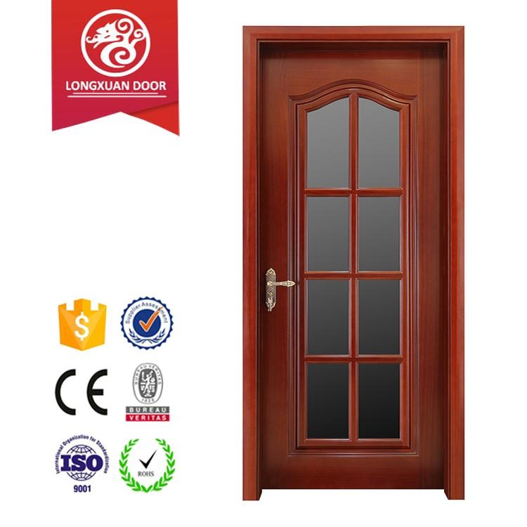 Longxuan congo sapele glass insert wood interior door for Interior door suppliers