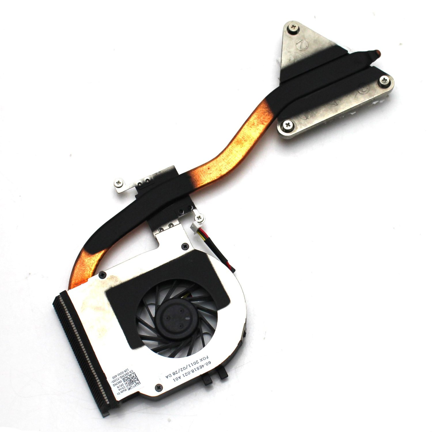 Generic New Notebook CPU Cooling Fan with Heatsink for Dell 3400 3500 Series Replacement Part Number DFS451205M10T UDQF2HH01CAR KSB05105HA-9K32 with Thermal Paste