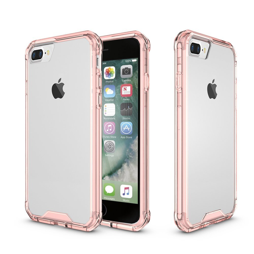 66793a72e Get Quotations · iPhone 7 Plus Case, CaseRack Transparent Hybrid Series -  [Shockproof][Drop Protection