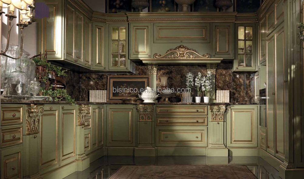 Vitoria Classic Style Wooden Kitchen Furniture Exquisite Solid Wood