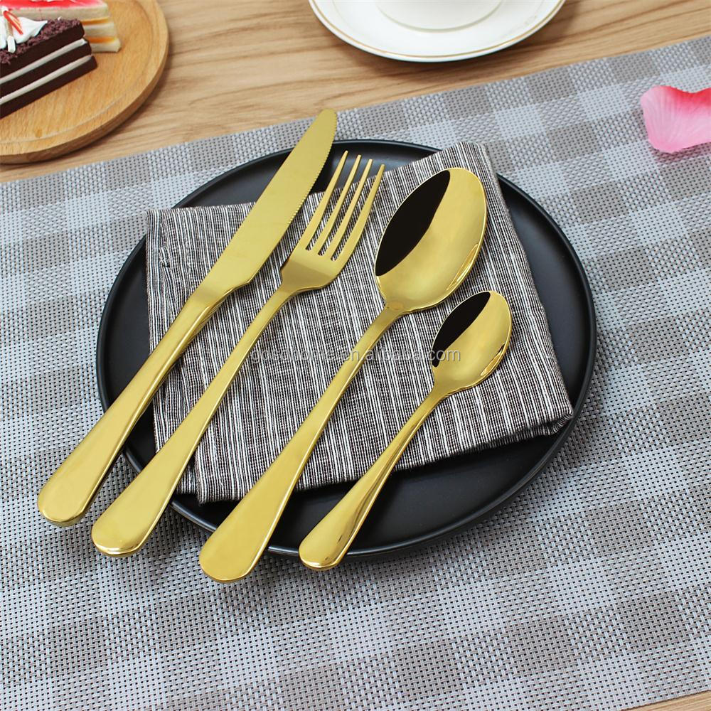High quality stainless steel flatware camping vintage restaurant party cookware wedding gift flatware 18/10 cutlery set