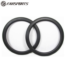 Racing carbon clincher rim 58mm aero U shape, 16H-32H customized spoke holes carbon rims from Farsports, logo service available