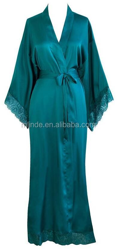 Populaire – Site De Longue Mode Satin Robe Chambre Femme Wn8S4Fax