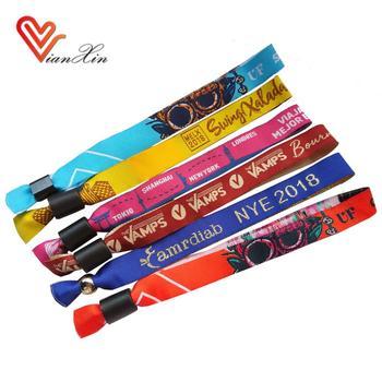 Personalizzato economici festival tessuto panno tessuto braccialetti per  evento
