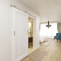 Modern Shaker Style Interior Barn Door sliding With Stainless Steel Sliding Door Hardware