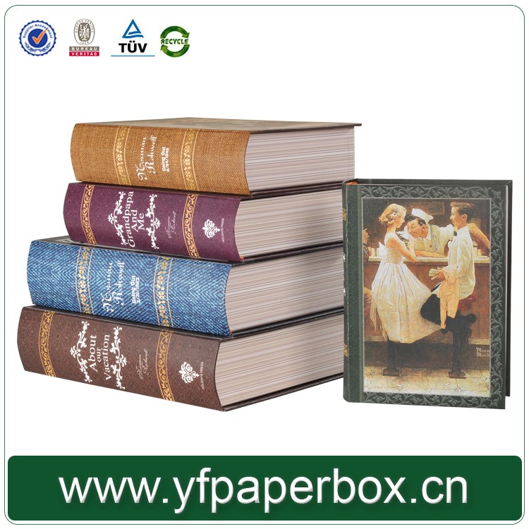 Magnetic closure cardboard book shaped decorative FAKE book box