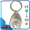 Perforated Logo Spring Coin Trolley Tokens Key Chain