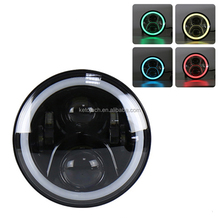 New 7 inch 60W halo ring Jeep motorcycle RGB Led headlight