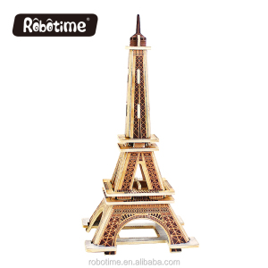 Robotime educational 3D wooden puzzle Effiel Tower model toys