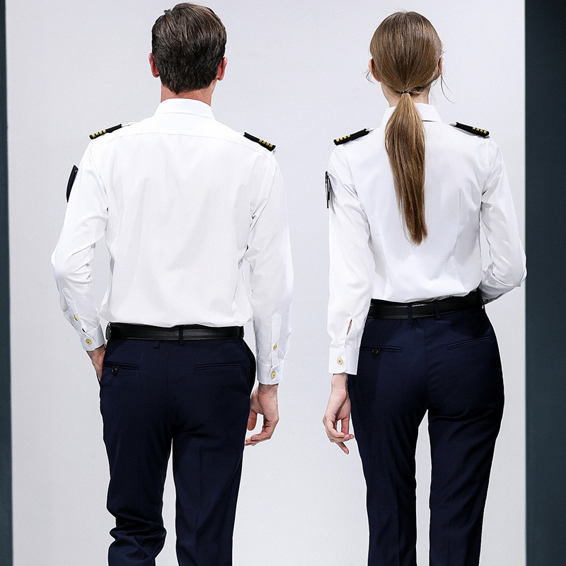 Airline Flight Attendant Stewardess Pilot Long Sleeve Shirt Uniforms
