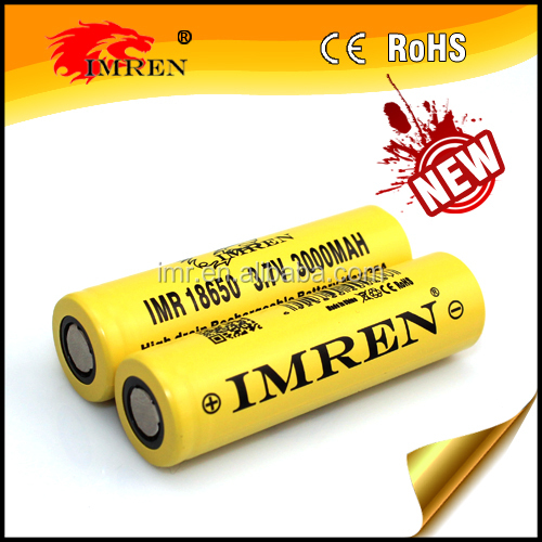 New arrival high capacity IMREN 18650 rechargeable li-mn battery IMREN 18650 3000mah 35A for mods from IMREN, batteri battery