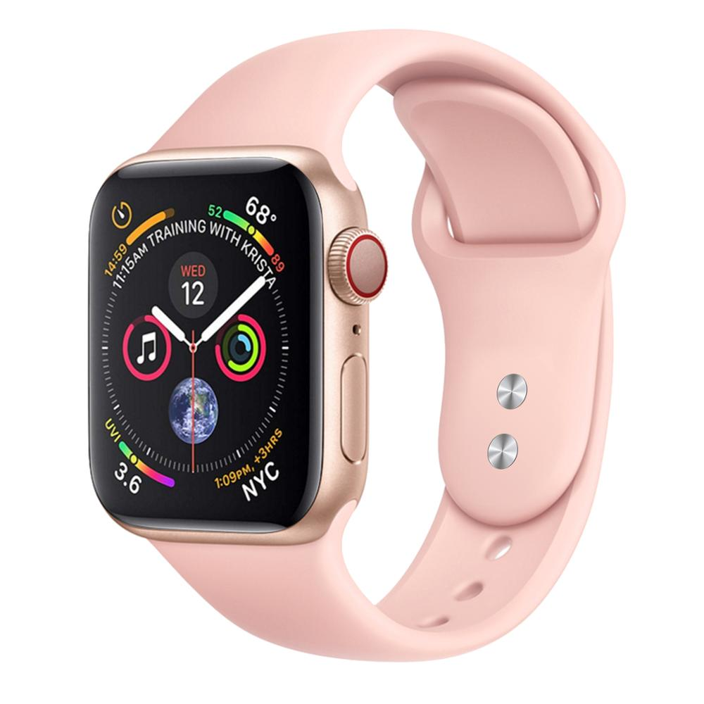 Bands Compatible with Apple Watch 38mm / 42mm, Soft Silicone Sport Replacement Wristband Compatible with iWatch Series 3/2/1