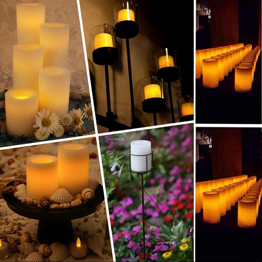 Waterproof Battery led light with remote control parafin candle wax