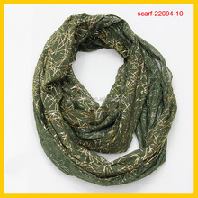 teal glitter snood polyester scarfs