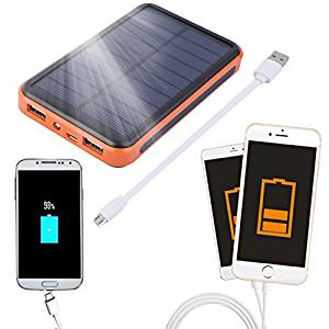 100000mAh - Large Capacity Waterproof Portable Solar Power Bank Dual USB Solar Charger FSS