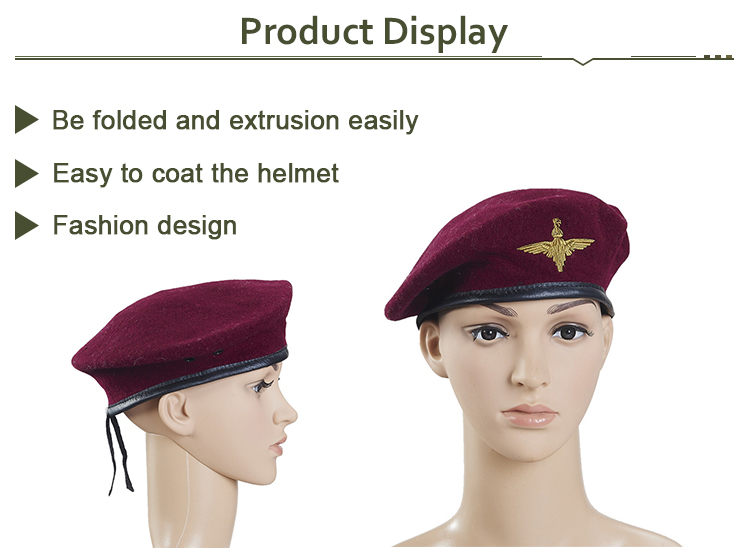 ae5b62a382ccd9 New 100% Wool Mens Beret+ Real Leather Trim,Military Cap Hat - Buy ...