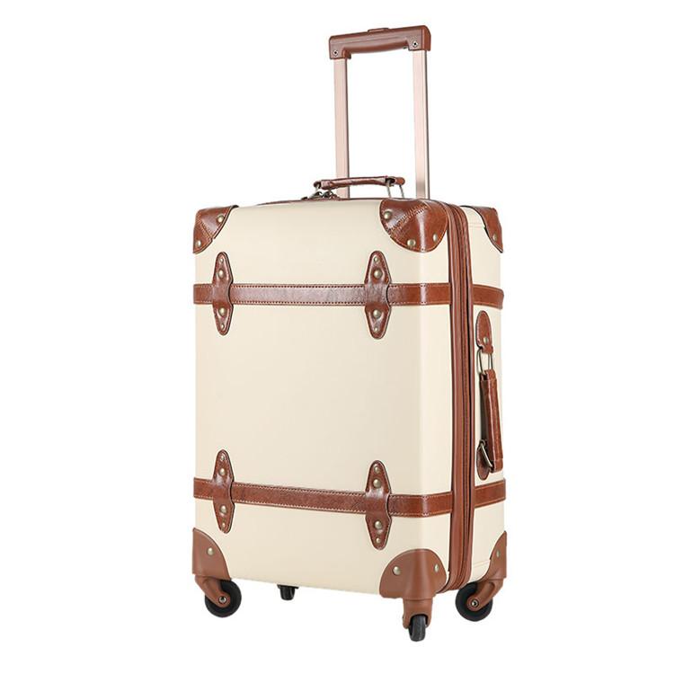 Beste Retro-stil Reisegepäck Gesetzt Pu Leder Rosa Dekorativen Koffer PZ-41