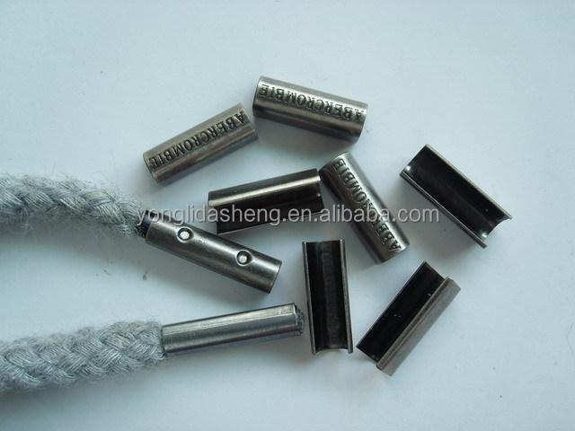 China Supplier Wholesale U Shape Engraved Logo Metal Drawstring ...