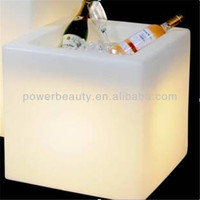 High quality portable retangle light up LED party ice/ wine bucket