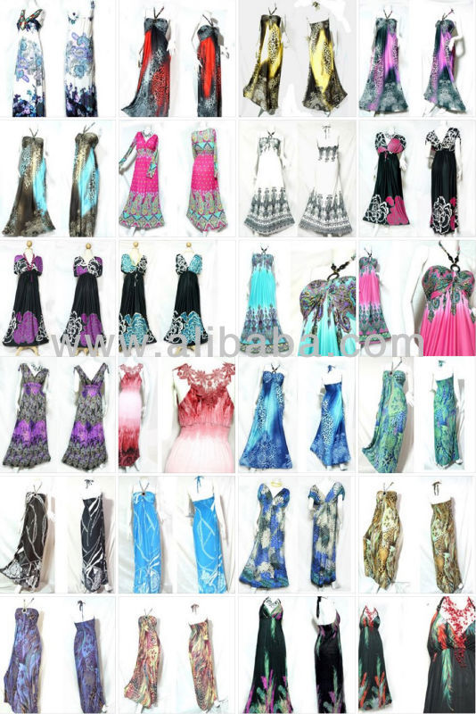 fashion retro HIPPIE BOHO FLORAL PAISLEY ART PATTERN maxi long dress wholesale