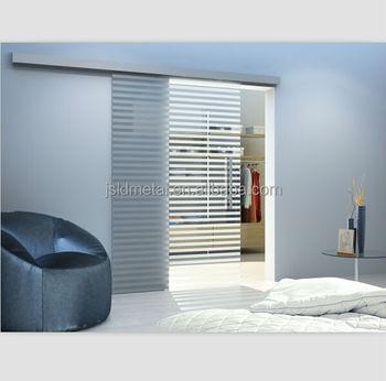 Soft close aluminum track sliding glass door top hung wall for Top hung sliding glass doors