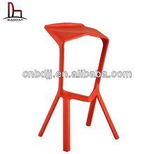 De china al por mayor colorido moderno sólido estilo simple elegante de plástico bar stool repuestos rojo silla zapato de tacón alto