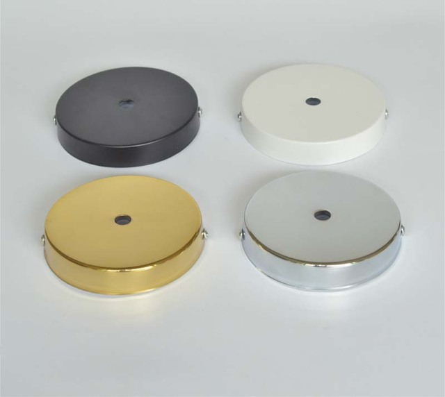 D100mm White/Black/Chrome/Gold Ceiling Plate Ceiling