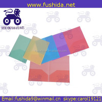 Office stationery plastic pp document folders with file cover decoration