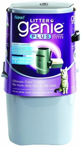 Litter Genie Plus Cat Litter Disposal System with Odor Free Pail System, New
