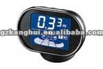Car parking sensor PTS with blue LCD display with carbon fiber panel & precise detection up to 0.01m