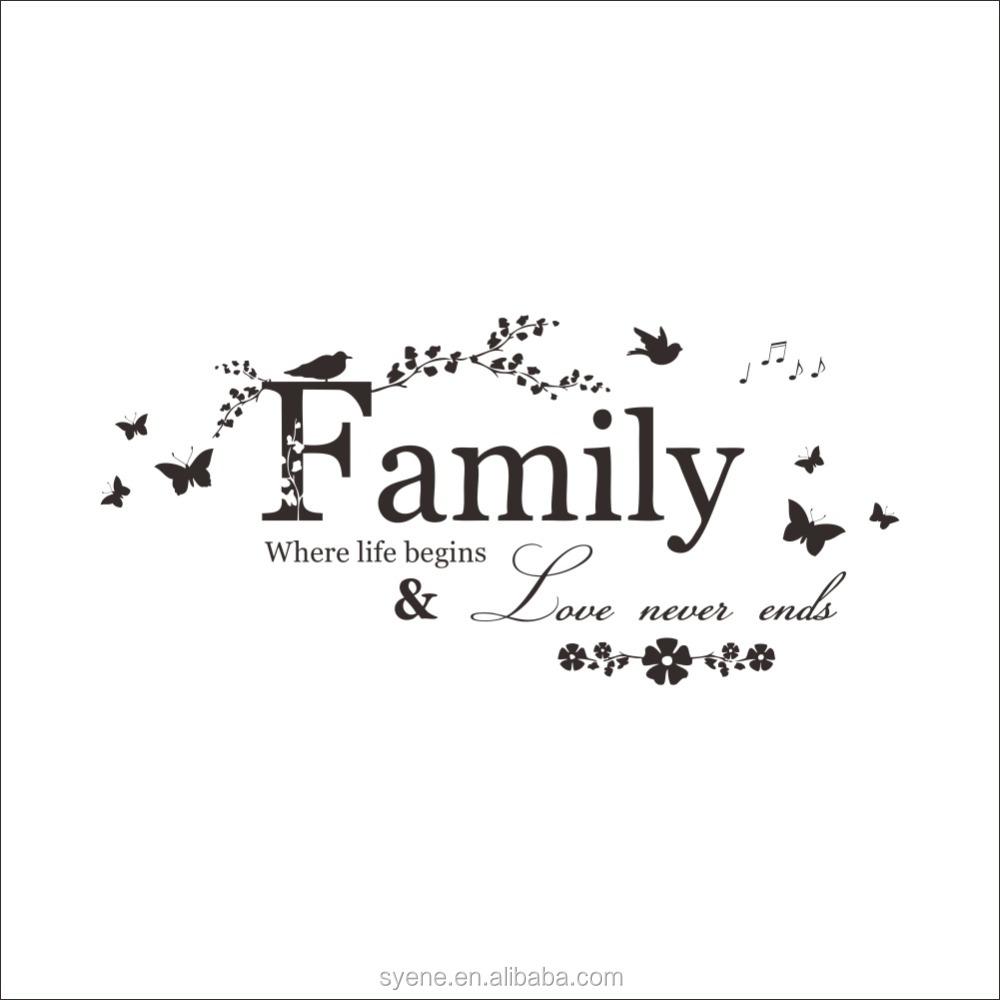 Family Life Quotes Vinyl Flower Smiley Sticker Chart Paper Decoration Art Vinyl