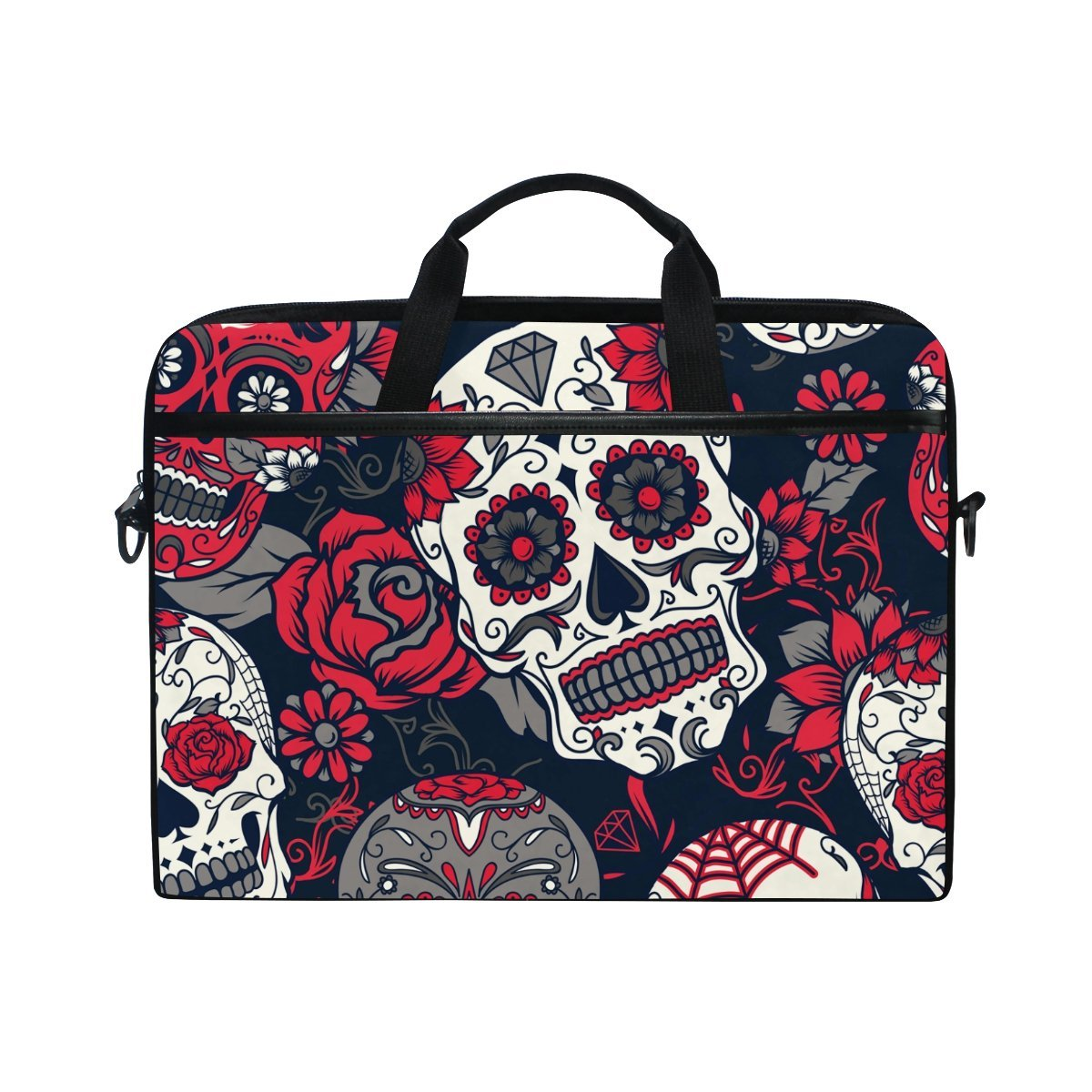 ATHG Laptop Sleeve Case Laptop Packs 3D Skull Dancing Forest Fire Business Carrying Handbag Fit 13//15 Inch