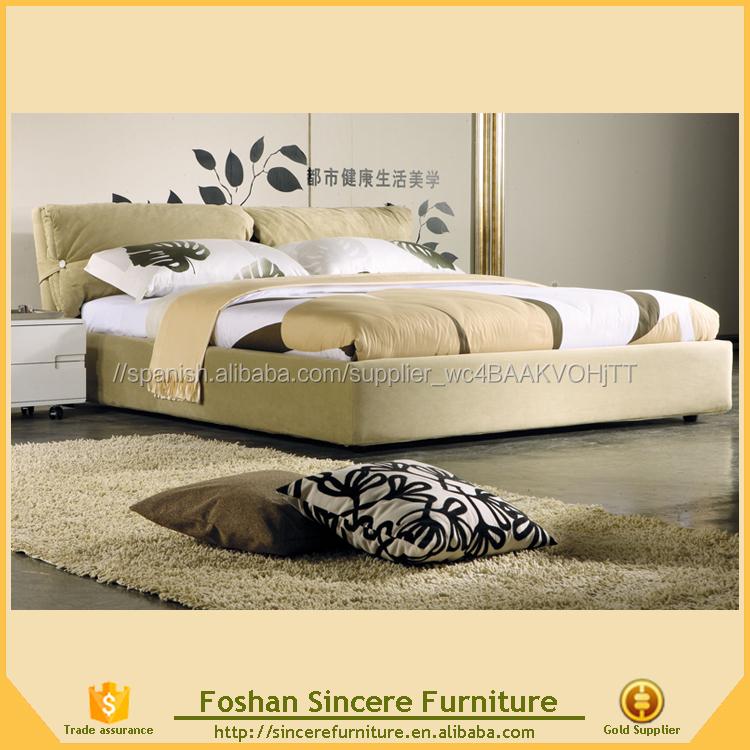 Muebles de dormitorio cama de tela blanca, camas de hotel, tela cama ...