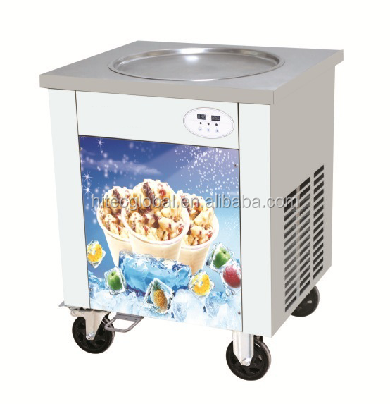 Fried Ice Cream Machine Single Pan