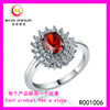 2017 New Arrivals Ruby Silver Engagement Crystal Elegant Canada Women Jewelry Fashion Rings