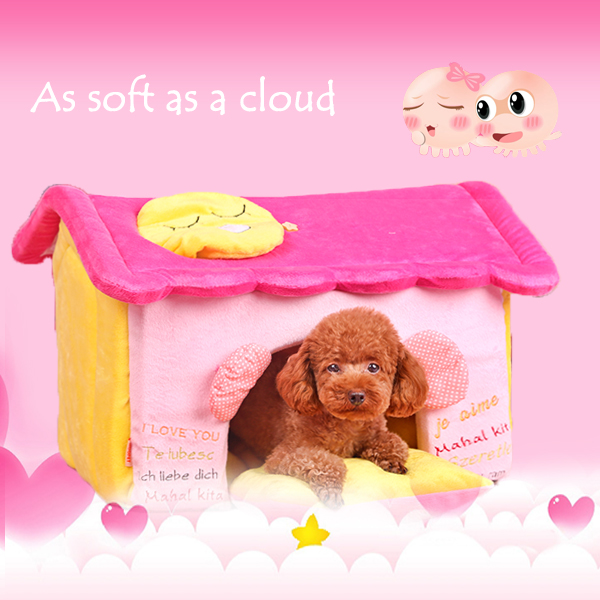 Hoopet reassembled pink and yellow dog house and pet beds to buy