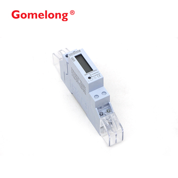 CE Standard 1pole width mini din rail kwh energy meter with super  capacitor, View 1pole width mini din rail kwh energy meter, GOMELONG  Product Details