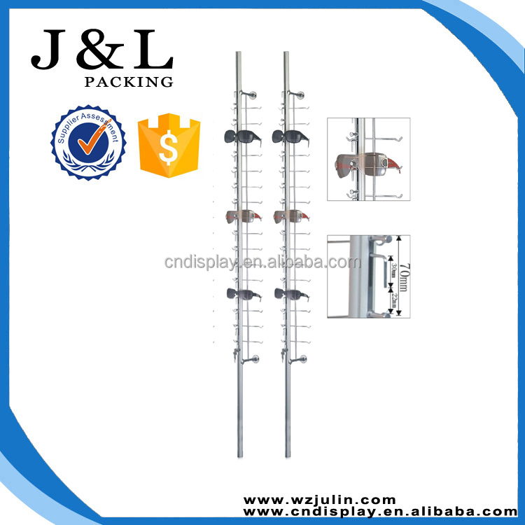 wall mounted optical frame display rods , optical shop display