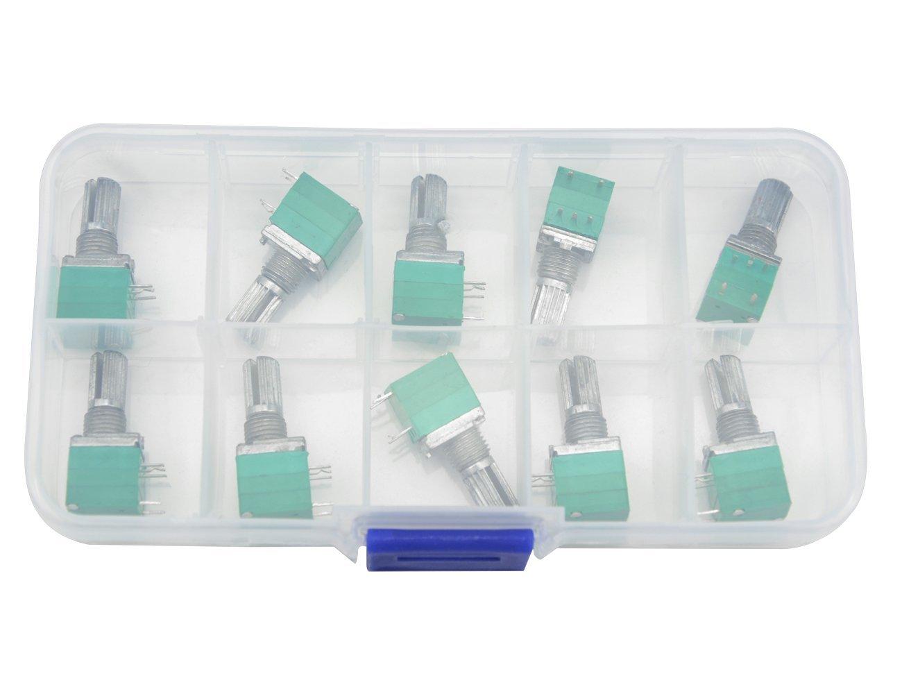Cheap 25k Linear Potentiometer Find Deals Clarostat Wiring Get Quotations Wgcd 10 Pcs B50k 50k Ohm 5 Pin Terminal Single Rotary Taper