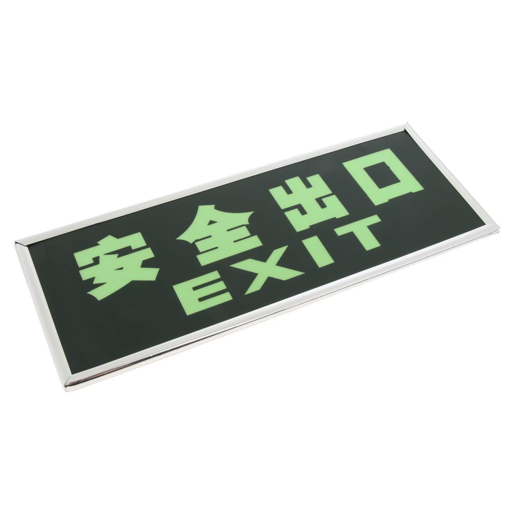 Baosity Self-illuminating Exit Sign, Exit Glow Sign,Safety Glow Sign,Emergency sign - Exit