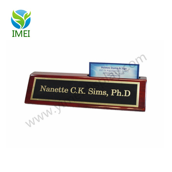 Personalized Business Desk Name Plate With Card Holder Engraving Ym1 285